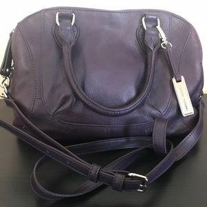Handbags - Audrey Brooke Paramount Purple Leather Satchel